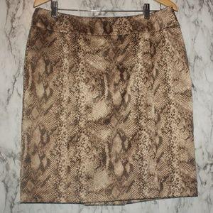 New York & Company Snake Skin Print Skirt Sz 12